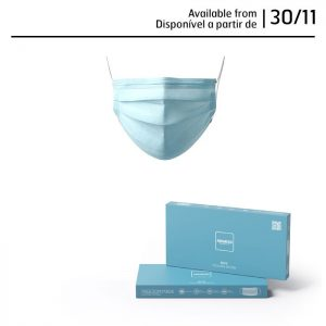 Mascarilla higiénica elegante azul pack de 10 uds.
